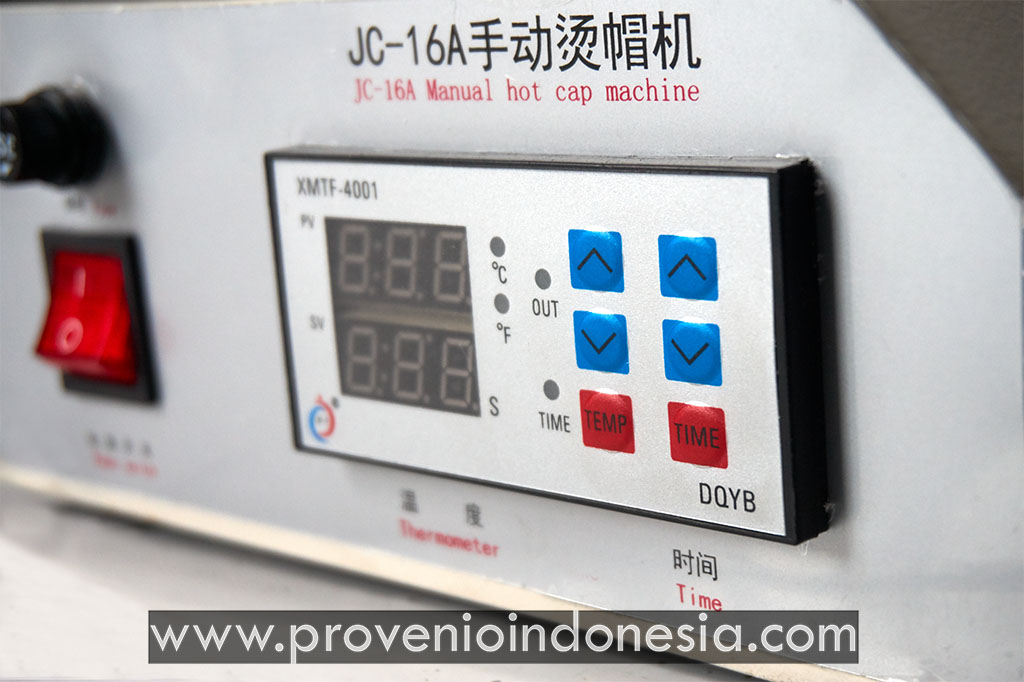 Mesin Heat Press Topi Machine JC16 ProvenioIndonesia