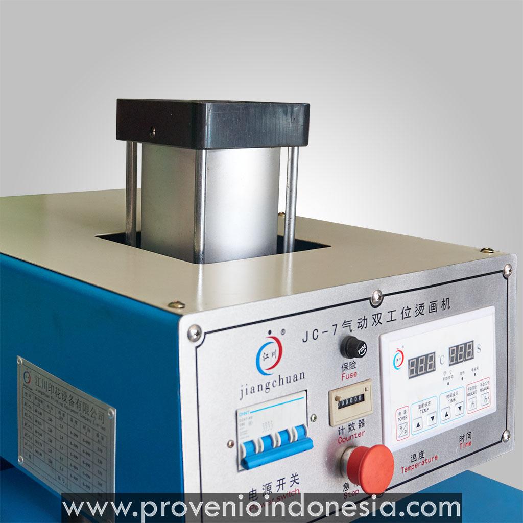 Mesin Heat Press kaos otomatis Machine JC 7 Provenio Indonesia Peralatan Perlengkapan Sablon