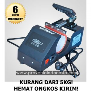 Mesin Heat Press Mug Mini Minimalis Sublim Provenio Indonesia